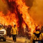Residents covered by the record-breaking fires in California urged to flee the state